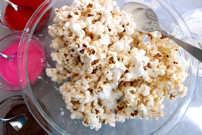 valentine popcorn with melted candy melts