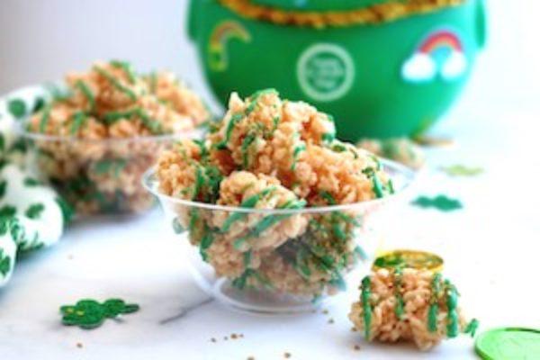 tn rice krispies nugget treats for saint patricks day
