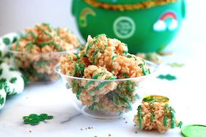 tn rice krispies nugget treats for saint patricks day