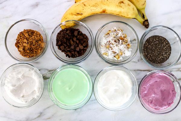 frozen banana bites ingredients