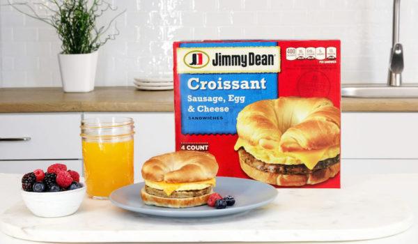 back to school breakfast ideas jimmy dean croissant breakfast sandwich