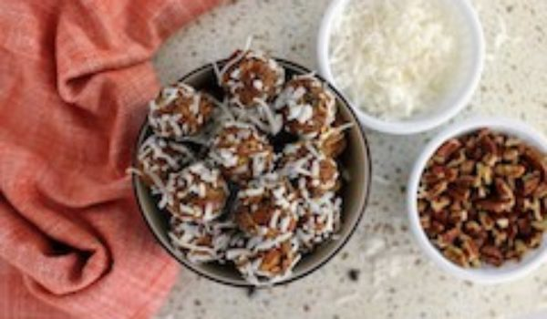 tn pumpkin protein balls in bowl