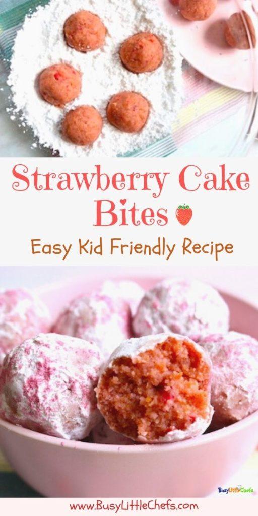 strawberry cake balls-pi
