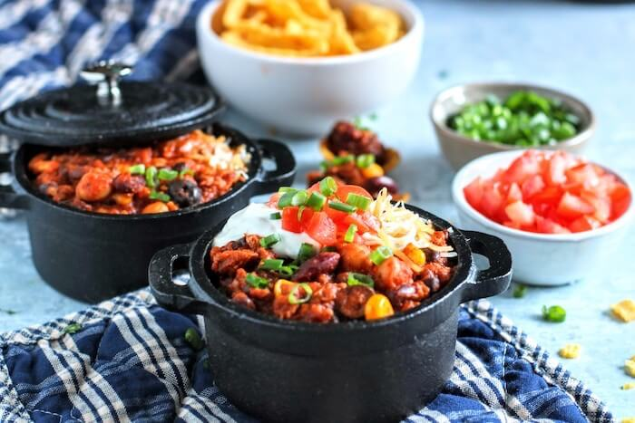 3 bean turkey chili pots