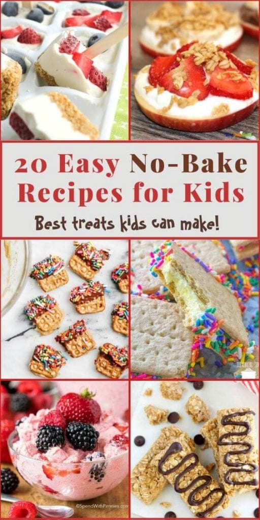20 no bake recipes for kids