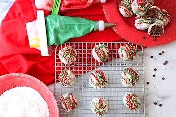 tn chocolate snowball cookies for holidays